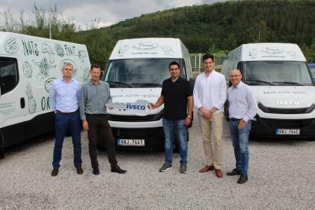 Milan Šámal (Iveco Czech Republic), Martin Veigl (Komersia Auto), bratři Shayové (Diana Company), Petr Cieslar (Komersia Auto)