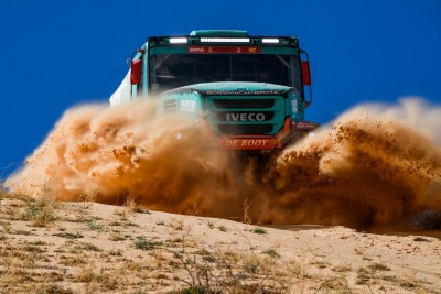 505 Van Kasteren Janus (nld), Rodewald Darek (pol), Snijders Marcel (nld), Iveco, Petronas Team de Rooy Iveco, Truck, Camion, action during Stage 5 of the Dakar 2020 between Al Ula and Ha
